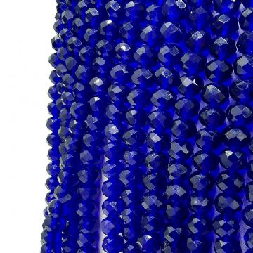 150 pcs x 3 mm Glass Faceted Rondelle Dark Blue 009